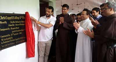 Inaugurazione ampliamento Chris Cappell College India