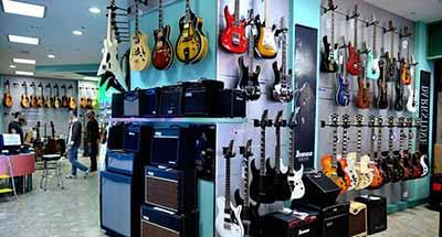 Il negozio musicale ai Granai